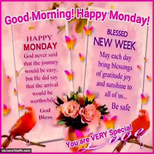 Good Morning Happy Monday Blessed New Week Monday Good Morning