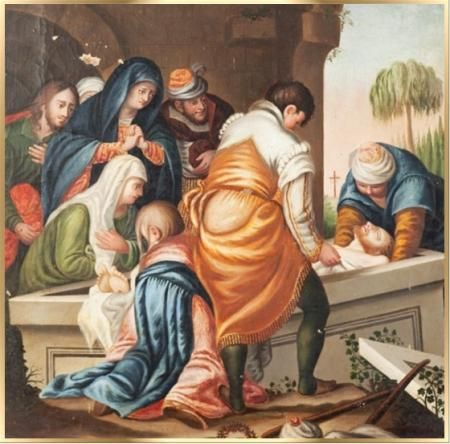 decimo cuarta estacion santo via crucis semana santa san alfonso ...