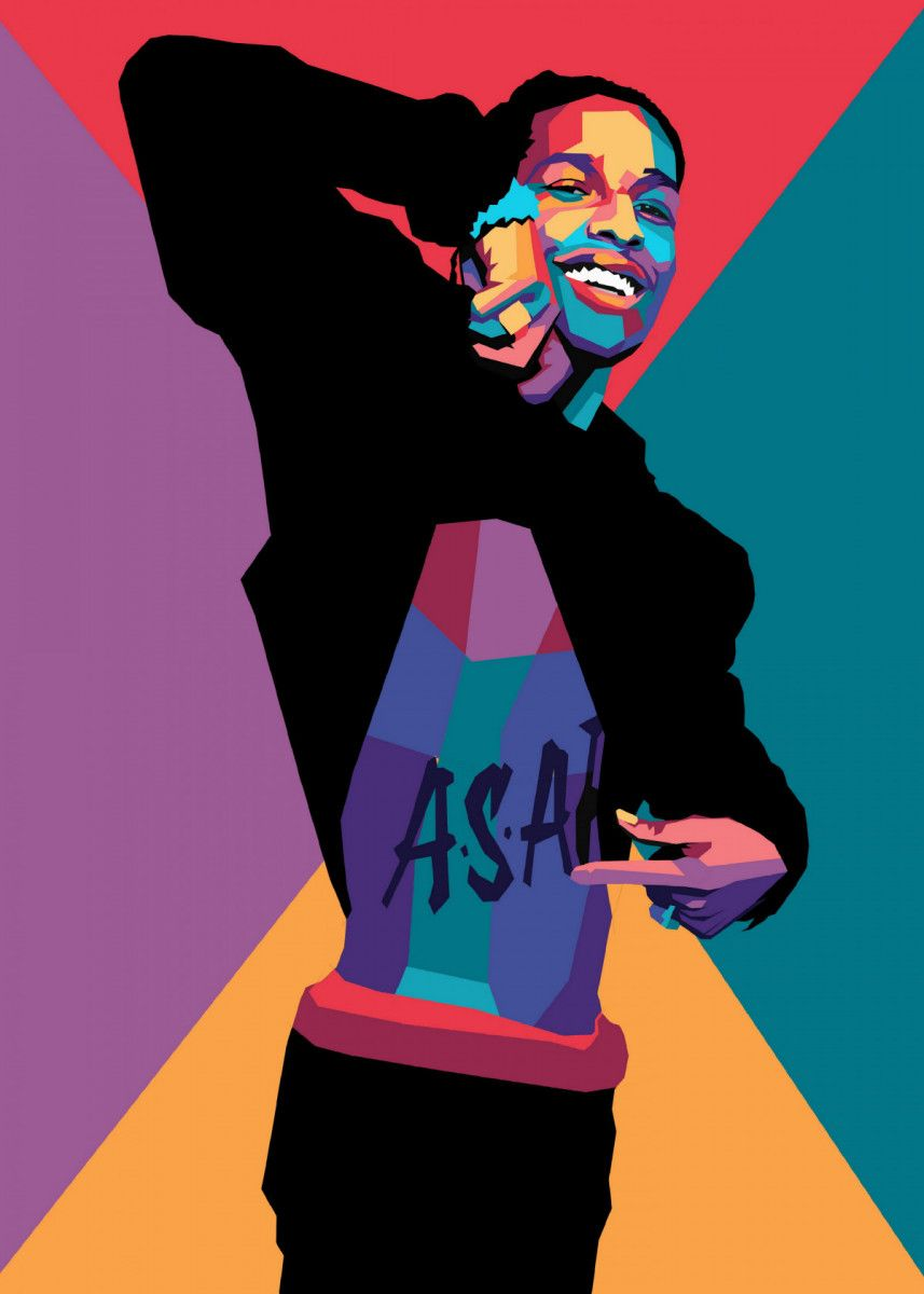 asap rocky poster by hafis hafis