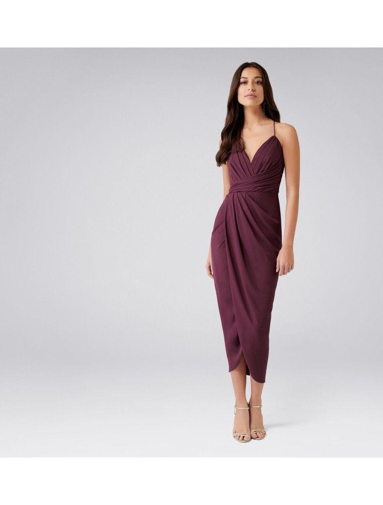 891b4d7fee8 Charlotte Petite Drape Maxi Dress Wineberry - Womens Fashion ...