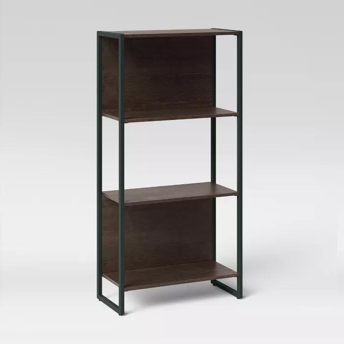 51 3 Paulo 3 Shelf Bookcase Midtone Brown Project 62 Target In 2020 Shelves Bookcase 3 Shelf Bookcase