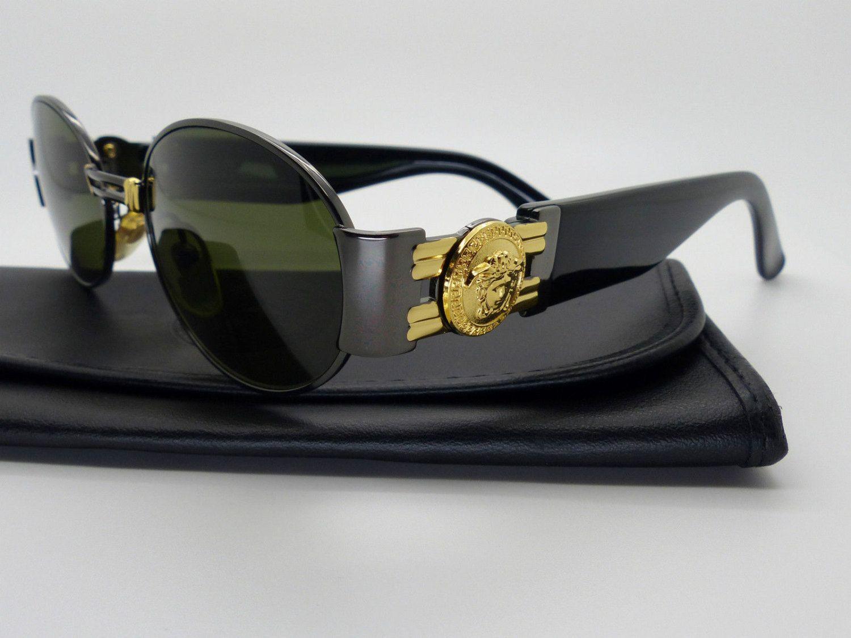 e607d3626c89 Genuine Rare Vintage Gianni Versace Medusa Sunglasses Mod S71 Col 91M  NOS   by VSOx on Etsy
