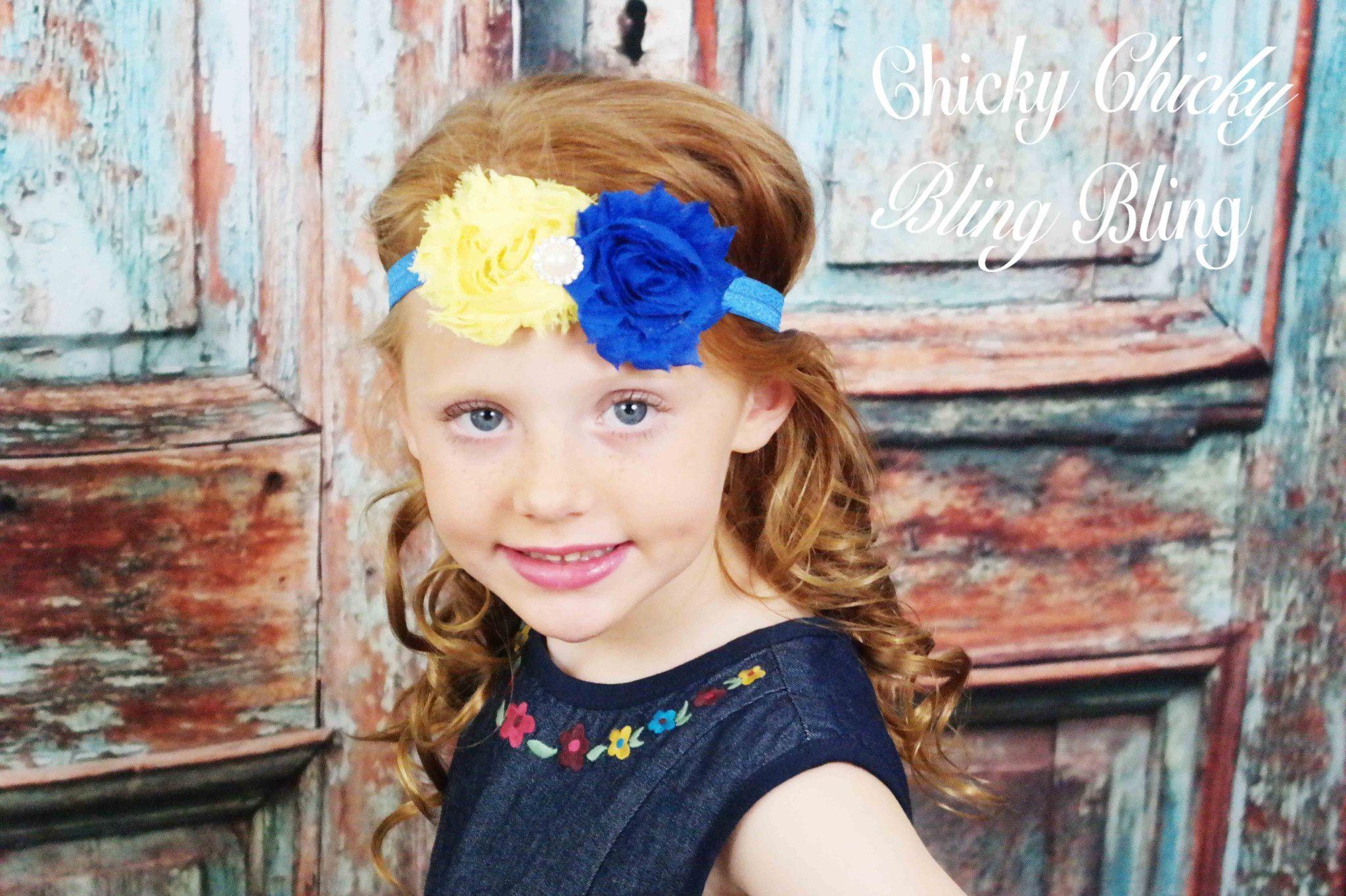 Girls Shabby Bow Headband