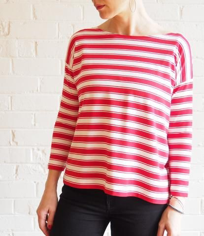 Photo of Mandy Boat Tee Pattern – now in FOUR sizes!