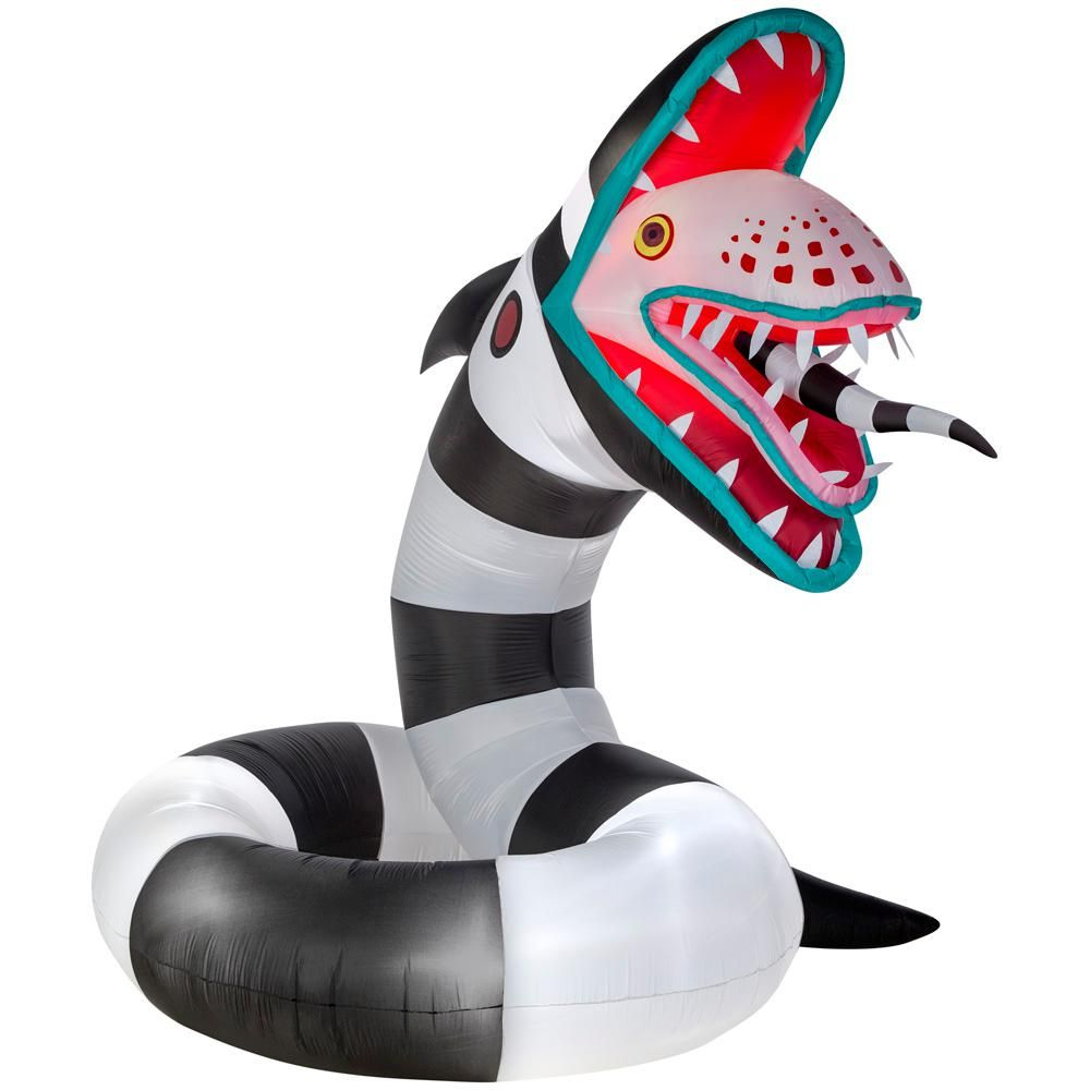 10 ft. Pre-Lit Inflatable Animated Sand Worm from Beetlejuice ...