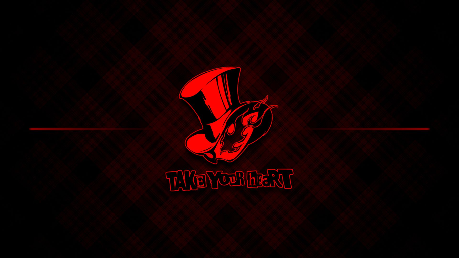 Persona 5 Wallpaper Phantom Logo by seraharcana on