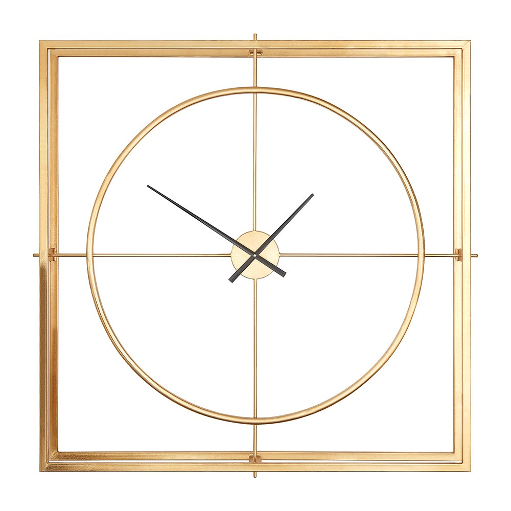 Houseology Collection Delight Gold Wall Clock Houseology Metal Wall Clock Gold Wall Clock Gear Wall Clock