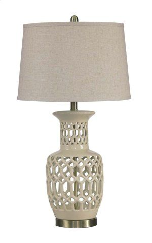 L100524 In By Ashley Furniture In Plymouth, WI   Ceramic Table Lamp (1/