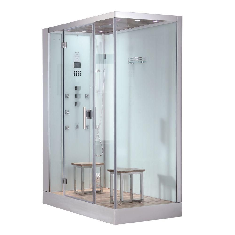 Ariel 59 in. x 35.4 in. x 89.2 in. Steam Shower Enclosure Kit in ...
