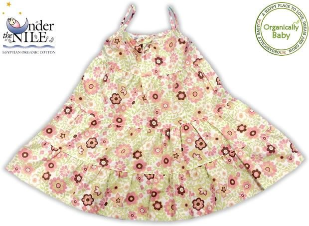 Organically Baby - Organic Baby Poplin Peach Blossom 3 Tier Dress from Under The Nile, $31.98 (http://www.organicallybaby.com/organic-baby-poplin-peach-blossom-3-tier-dress-from-under-the-nile/)