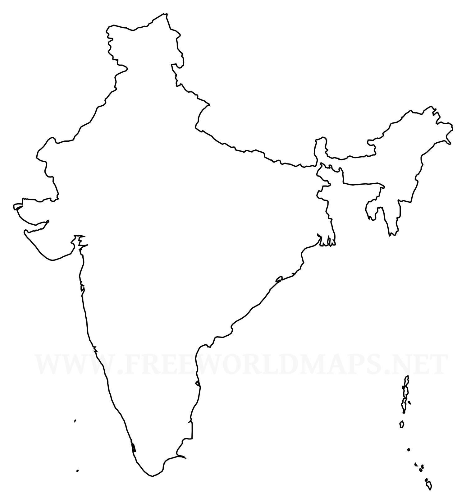 india outline map 1500×1612