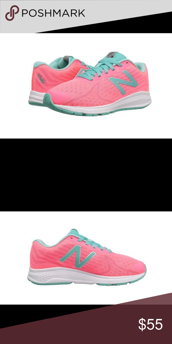 New Balance in pink and Tiffany green  NWT New Balance in pink and Tiffany green. Size Kid 5.5, which equals women's 7.5. Super cute! New Balance Shoes Athletic Shoes