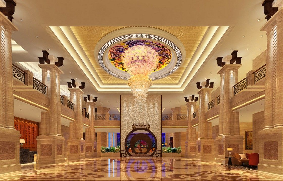 3d rendering luxury hotel lobby china luxury china hotel lobby - Coming Home To A Mansion Like This Stair Design Ceiling Design Luxury Hotels Lobbies