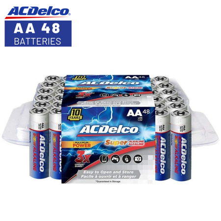 Acdelco Super Alkaline Aa Batteries 48 Count Walmart Com Alkaline Battery Batteries Acdelco
