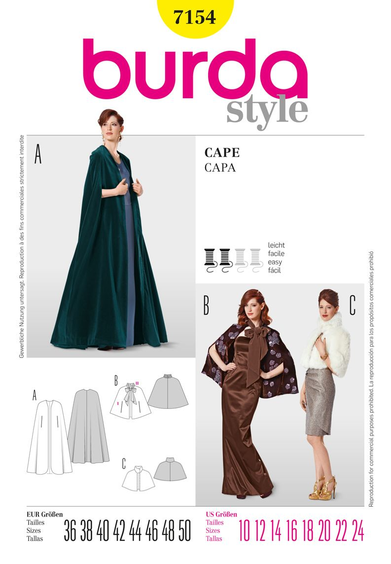 Simplicity Creative Group - Burda Style Cape | Sewing | Pinterest ...