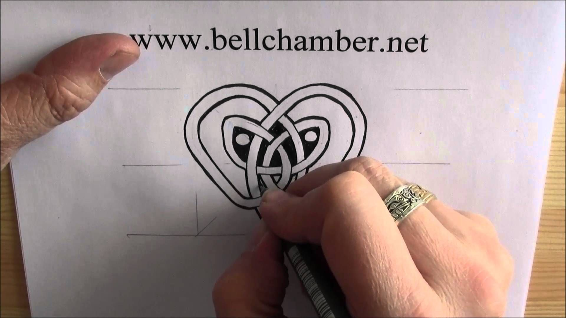 How to draw celtic patterns heart shaped interlace part of