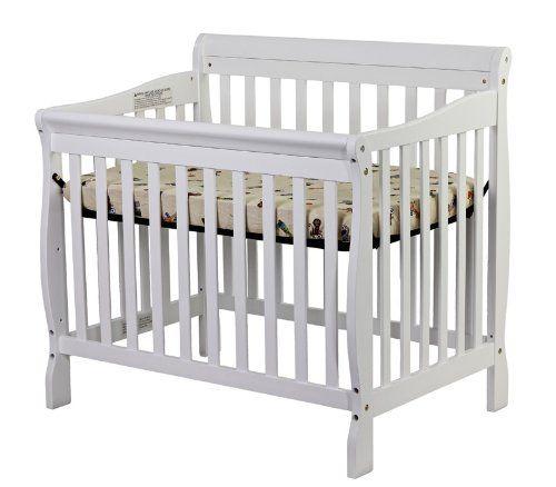 Amazon Com Dream On Me 4 In 1 Aden Convertible Mini Crib White Baby Mini Crib Cribs Convertible Crib