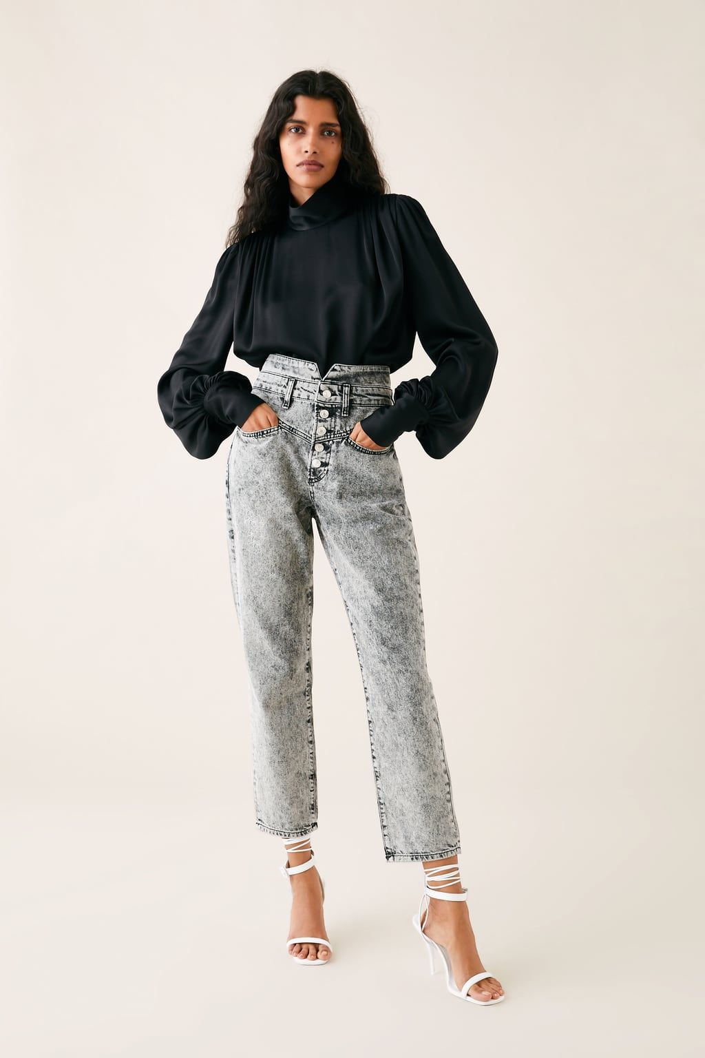 1e51ad24c5f Zw premium 80's straight jeans in acid black in 2019 | fashion ...