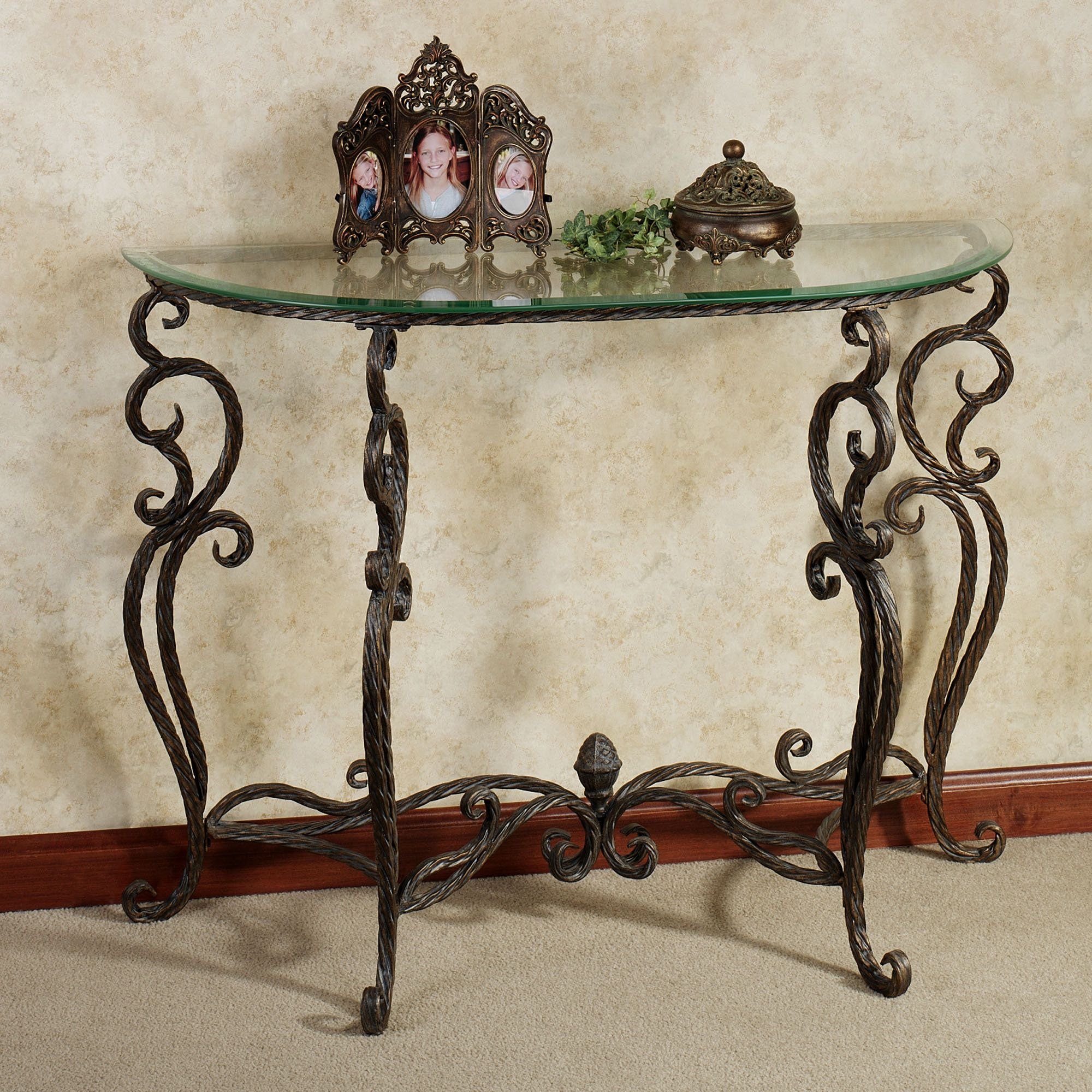 Anacapri Console Table Bronze With Images Wrought Iron Console