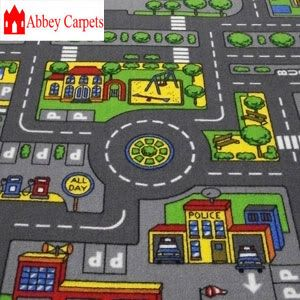 kids play mats for cars | about Childrenu0027s Road Rug Play Mat Toy Car  Roadway Large