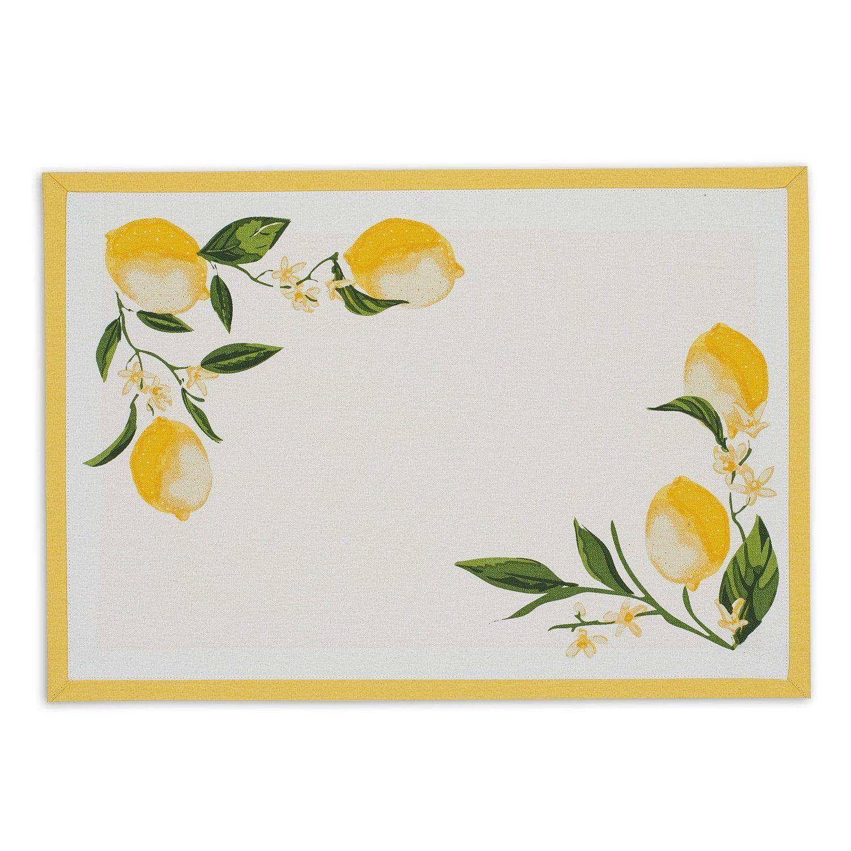 Lemon Bliss Printed Placemat In 2021 Placemats Design Imports Lemon Decor