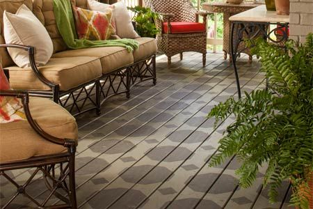 How To Paint A Geometric Porch Floor Pattern Walker