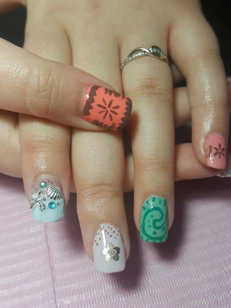 Moana Nails Disney Nail Designs Disney Nails Nails