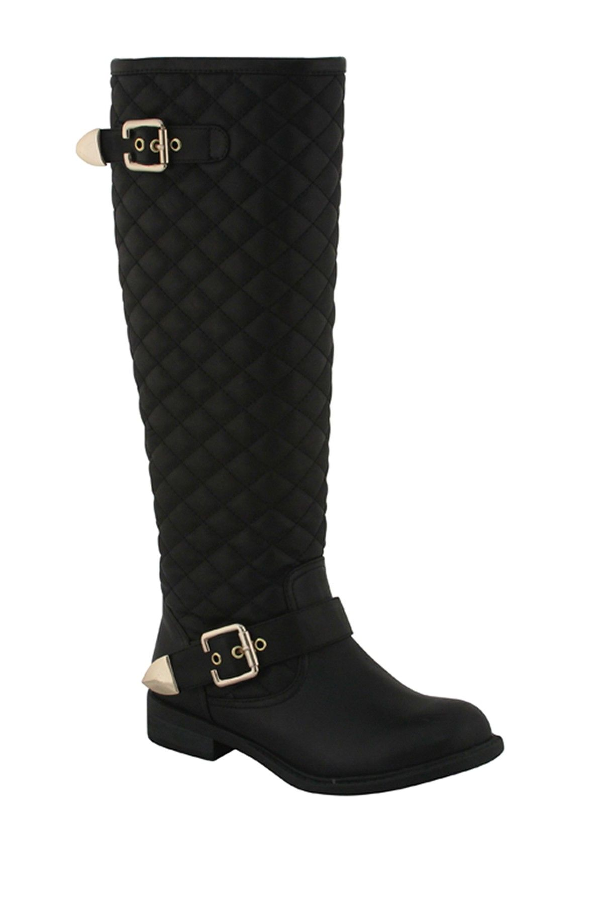 5aa4dc9a4ea I am currently obsessed with quilted boots. Extreme quilted by Eddie Marc