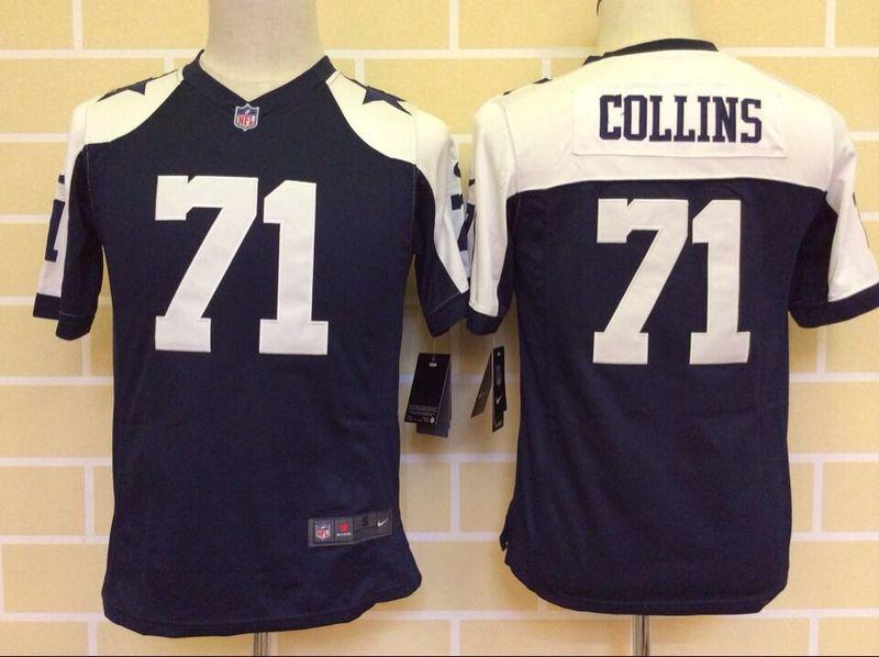 NFL Dallas Cowboys Kids 71 collins jerseys