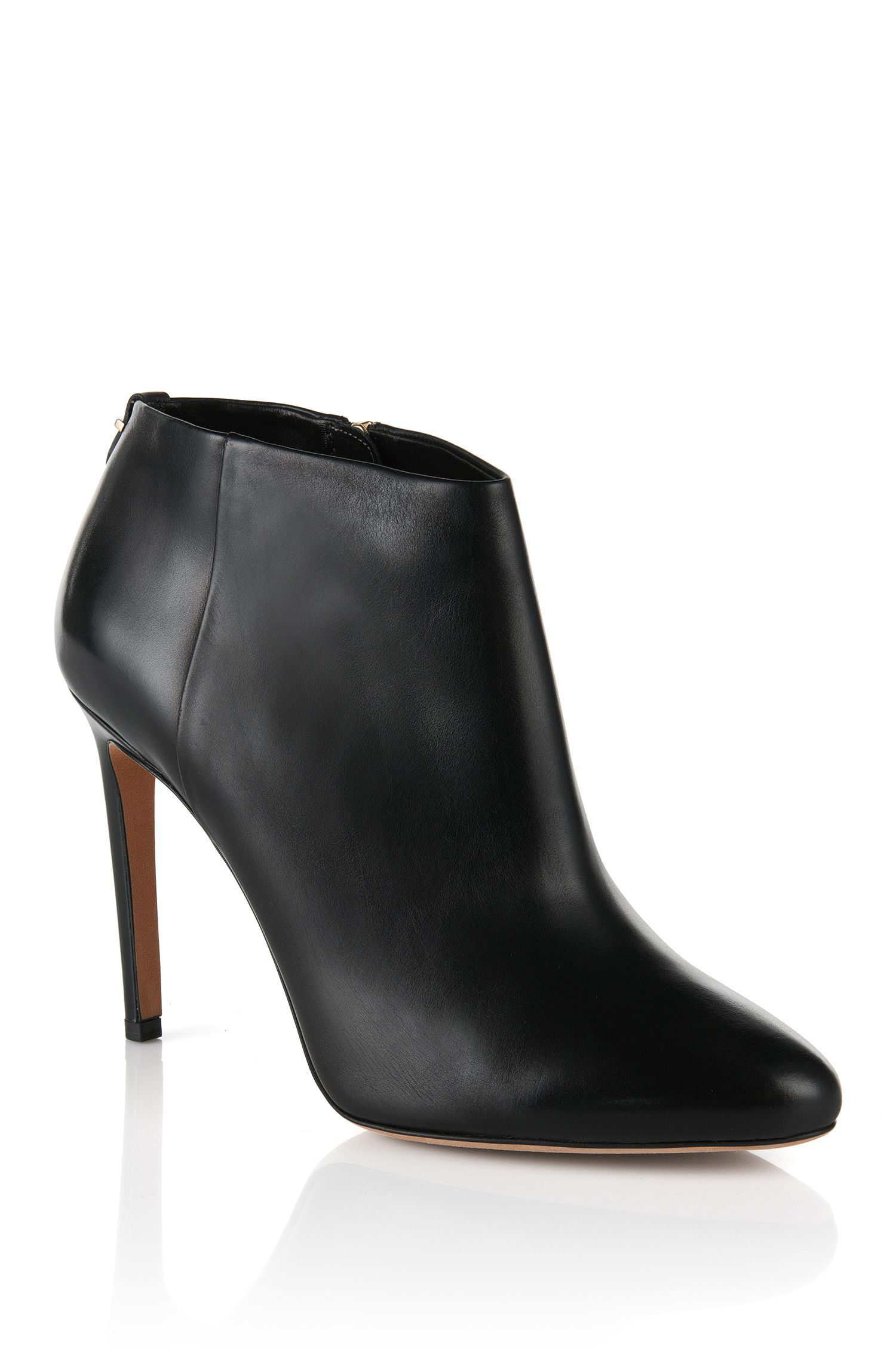 d1d7b52210250a BOSS Hugo Boss  Staple Bootie 100  black leather ankle boots. Debuted Nov  2015