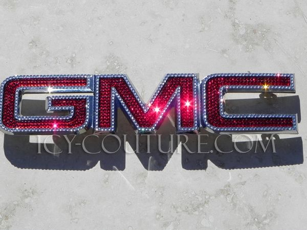 Bedazzled Crystal Gmc Emblem Bling Your Car Gmc Bling Emblem Truck Accessories