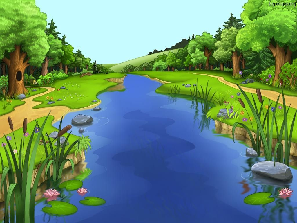 Animated Cartoon Animated Nature Cartoon Big Images D 1024x768 156050 Animated Scenery Landscape Water Background