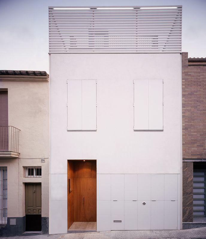H arquitectes house 78 terrassa 1 1 3 facades pinterest house fachadas y arquitectos - Arquitectos terrassa ...