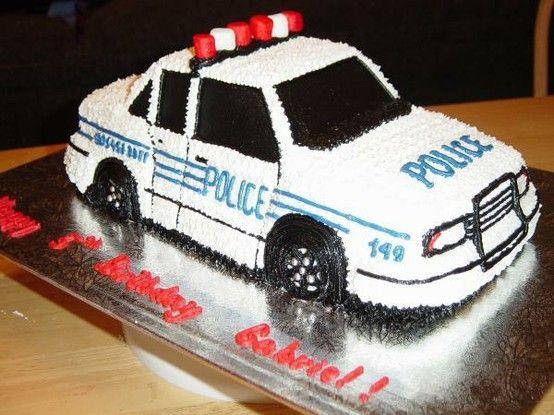 Police Car Cake Birthday Cakes Police Birthday Cakes
