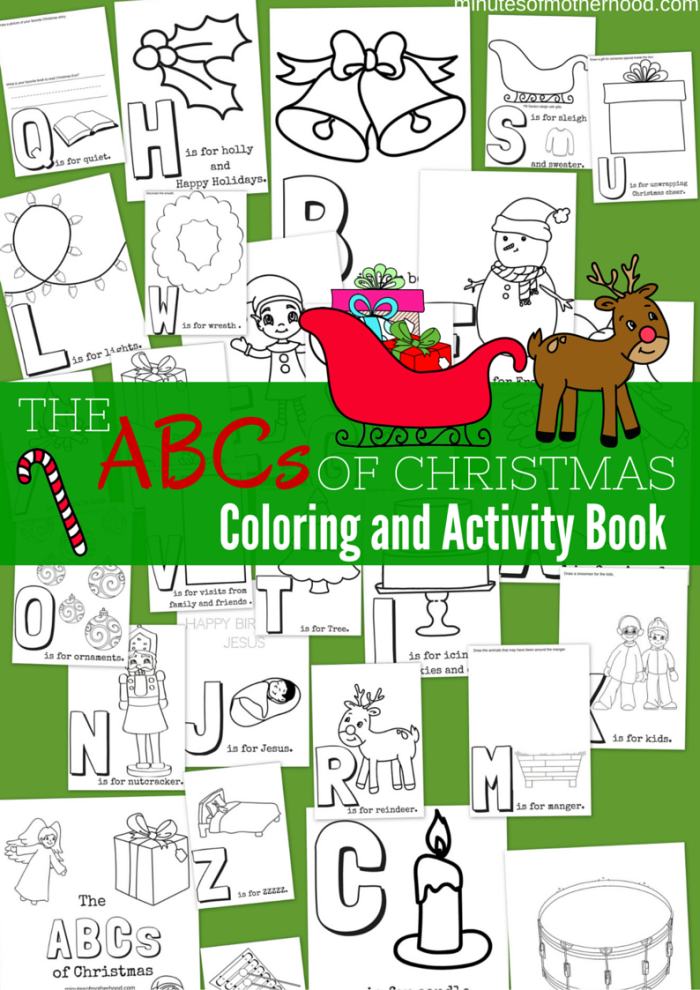 share this the abcs of christmas free printable coloring and activity book from a to - Free Printable Christmas Activities
