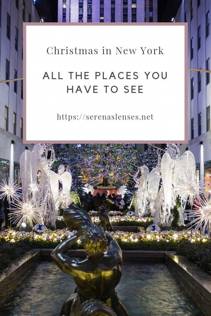 Traveling to New York City for Christmas? Want to see the best Christmas Trees and decorations in NYC? This NYC Blog shows you all the instagrammable places in NYC during Christmas #UnitedStates #USA #NYC #NewYork #ChristmasinNYC #WhatToDoInNewYork