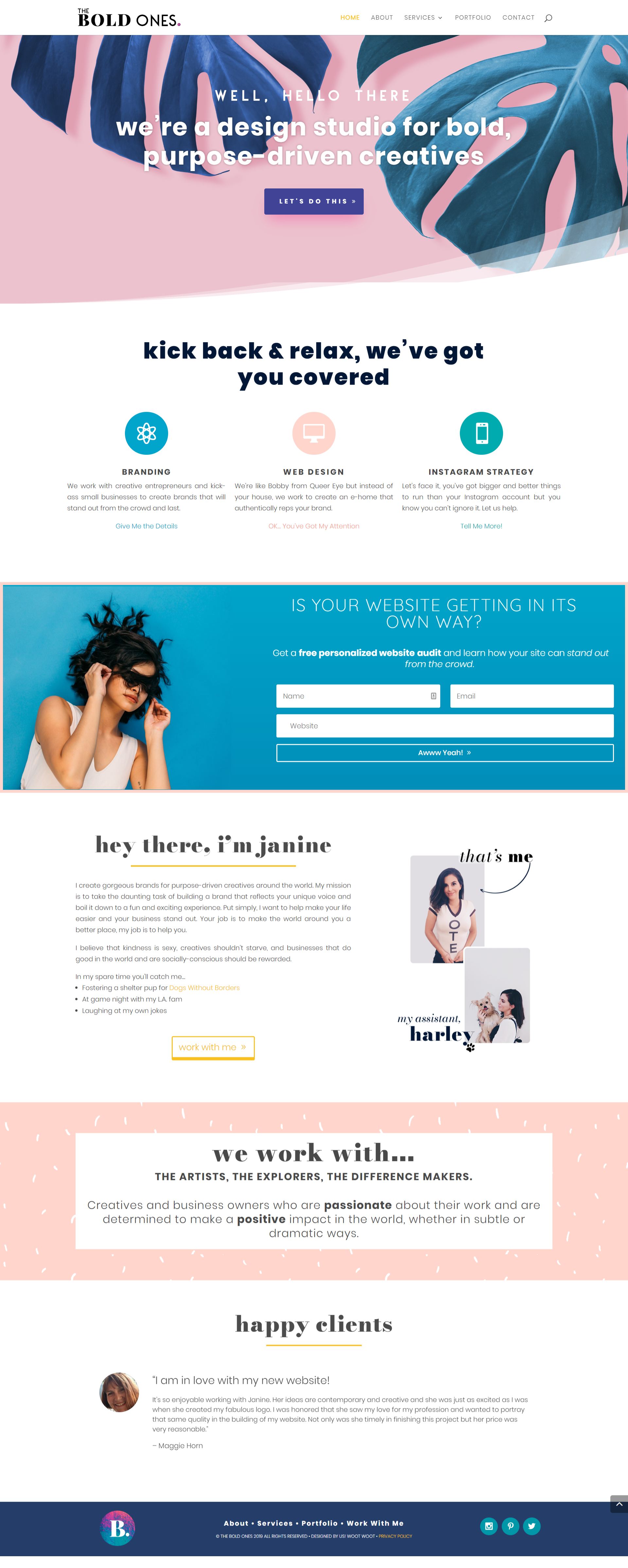 The Bold Ones Branding And Web Design Studio Homepage