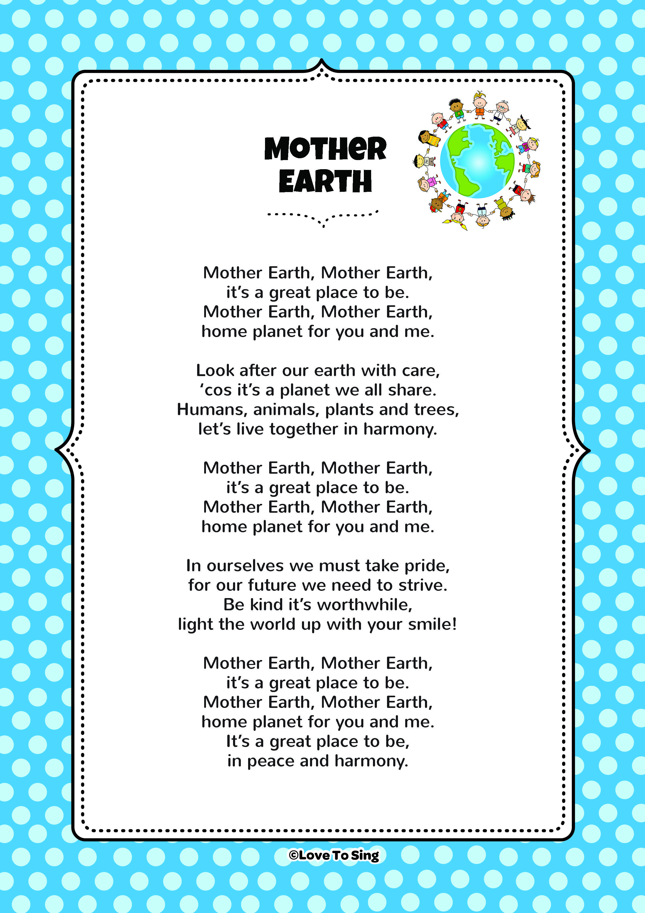 Mother Earth Earth poems, Mother earth poem, Earth for kids