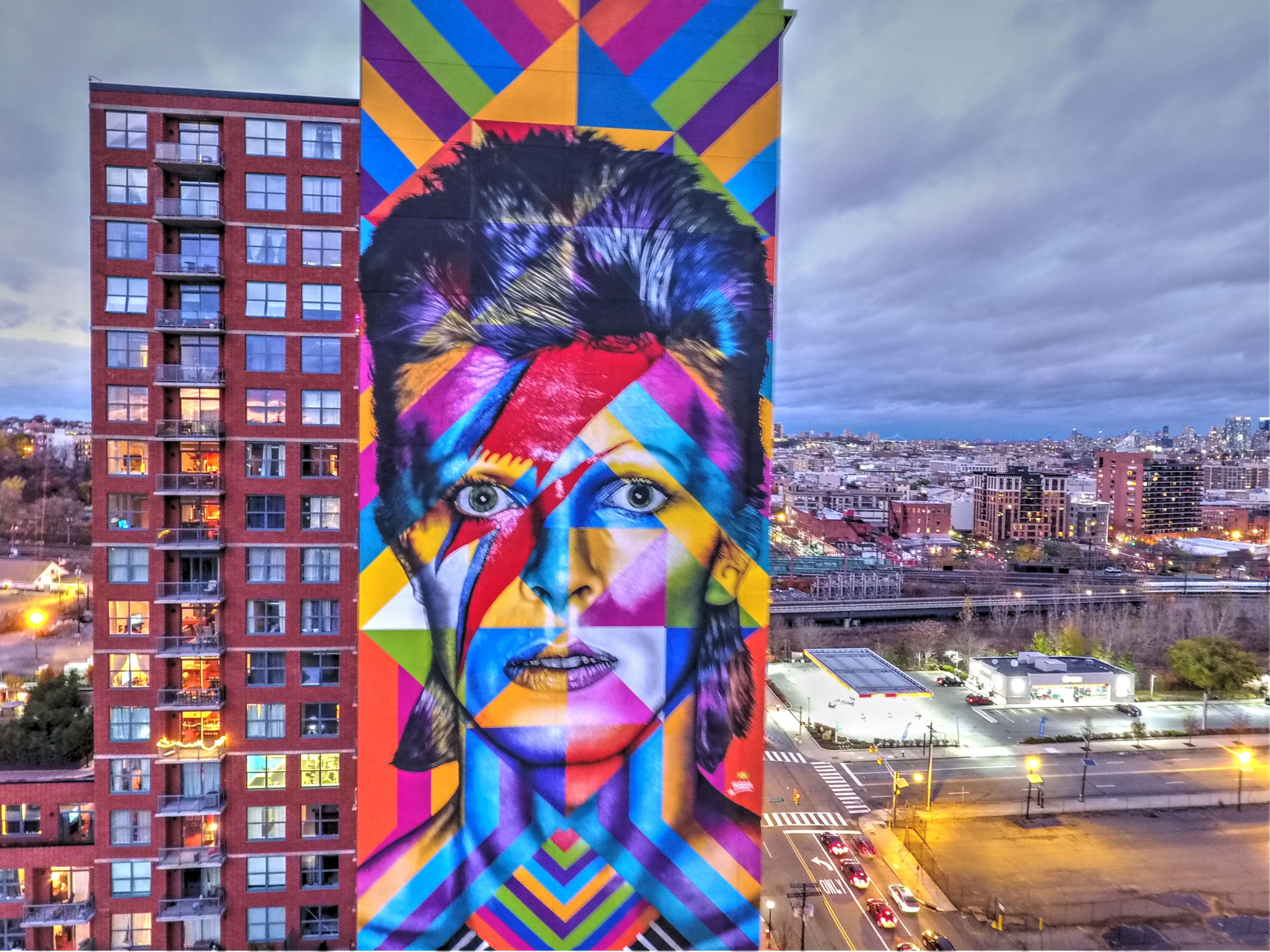 Graffiti art jersey city - Eduardo Kobra 2016 Jersey City Usa