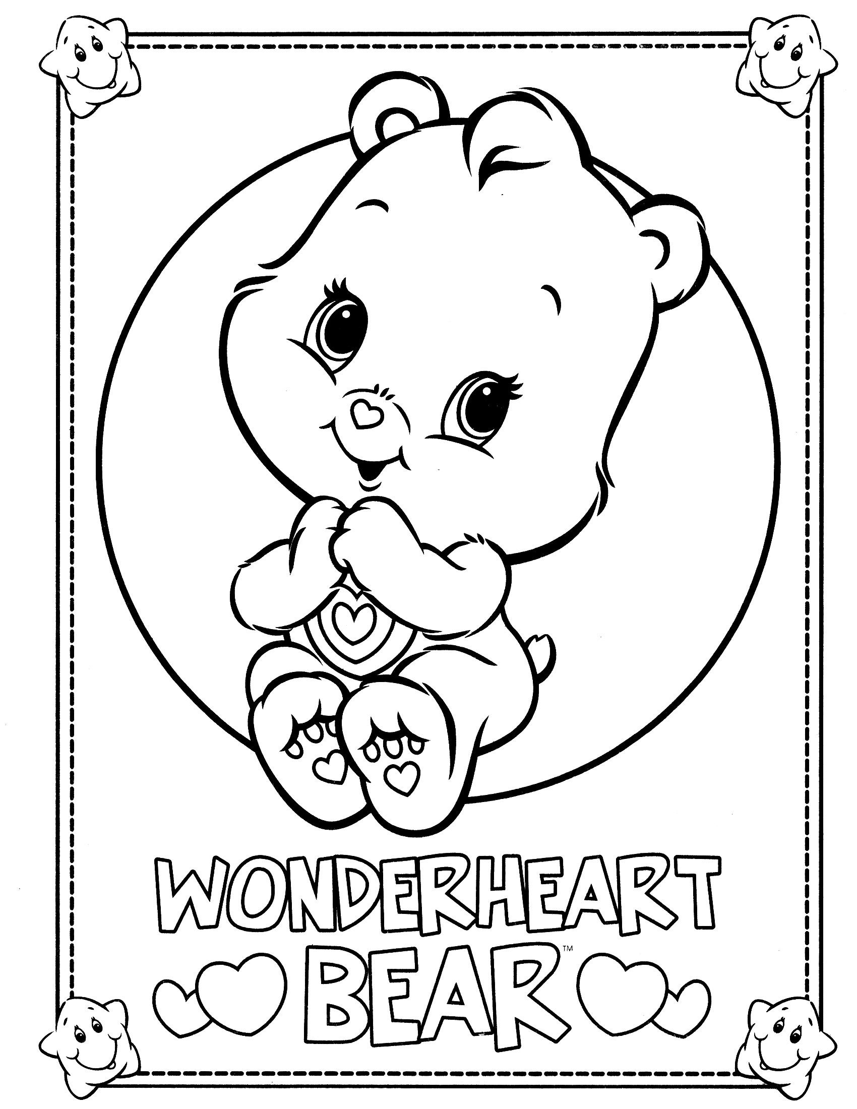 Book care coloring sheet - Care Bears Coloring Page