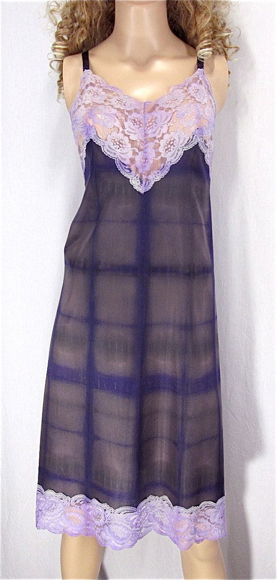 0792e07c2dca Shibori Dyed Slip Dress 42 Vintage Slip Plus Size Lingerie Sexy ...
