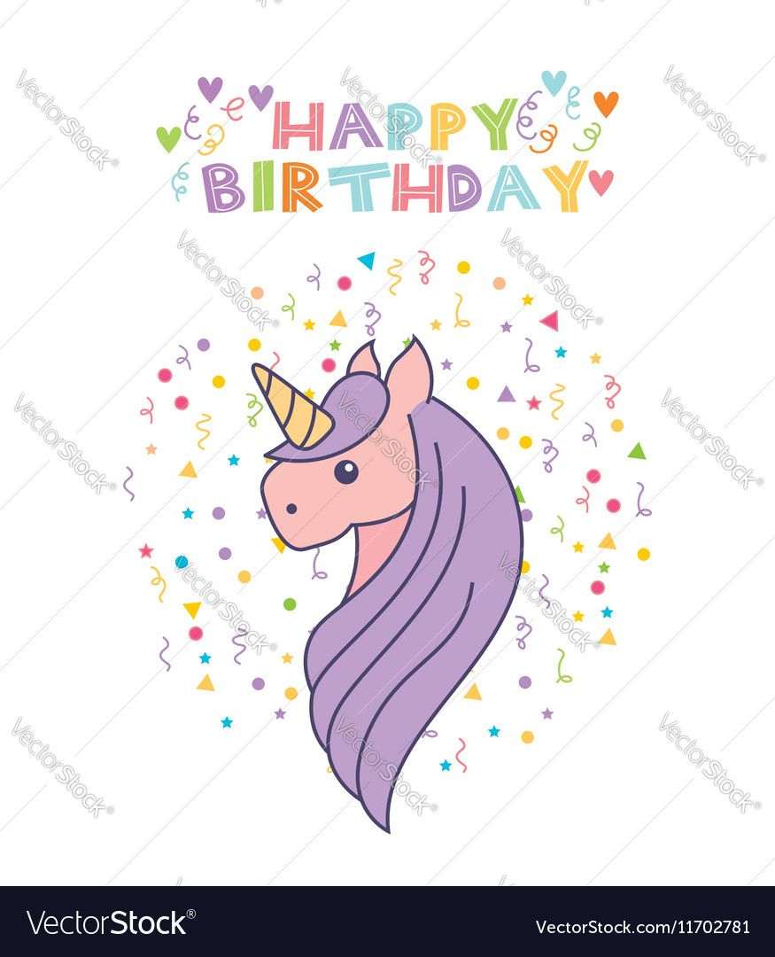 Happy birthday card with cute unicorn icon over white background happy birthday card with cute unicorn icon over white background colorful design vector illustration bookmarktalkfo Image collections