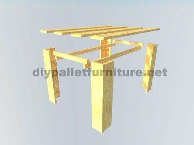 Les Plans Visant À Faire Une Table Avec Palettes Planches   Tables