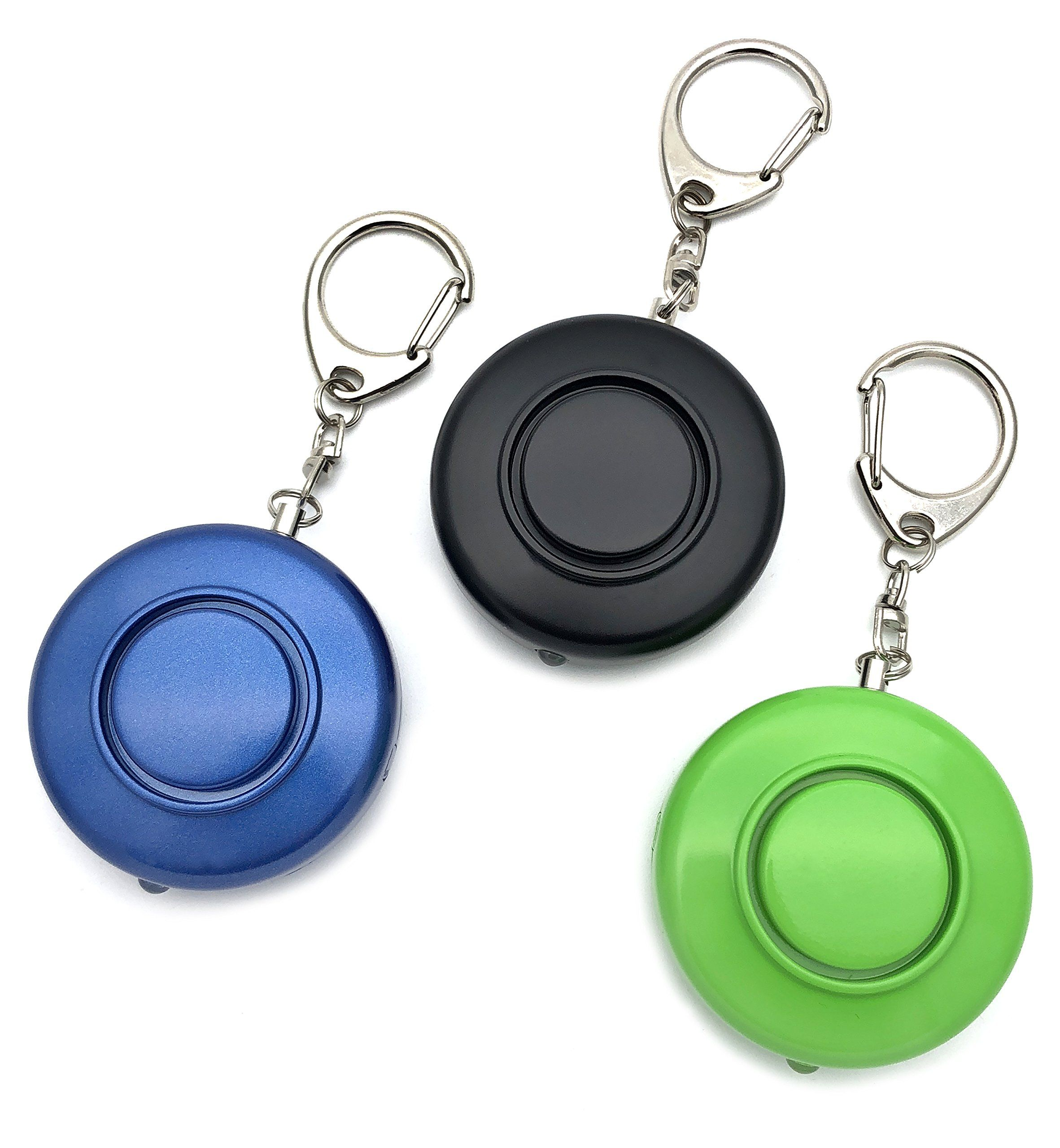 Pride Defense 3 Pack 130db Personal Alarm and LED Light