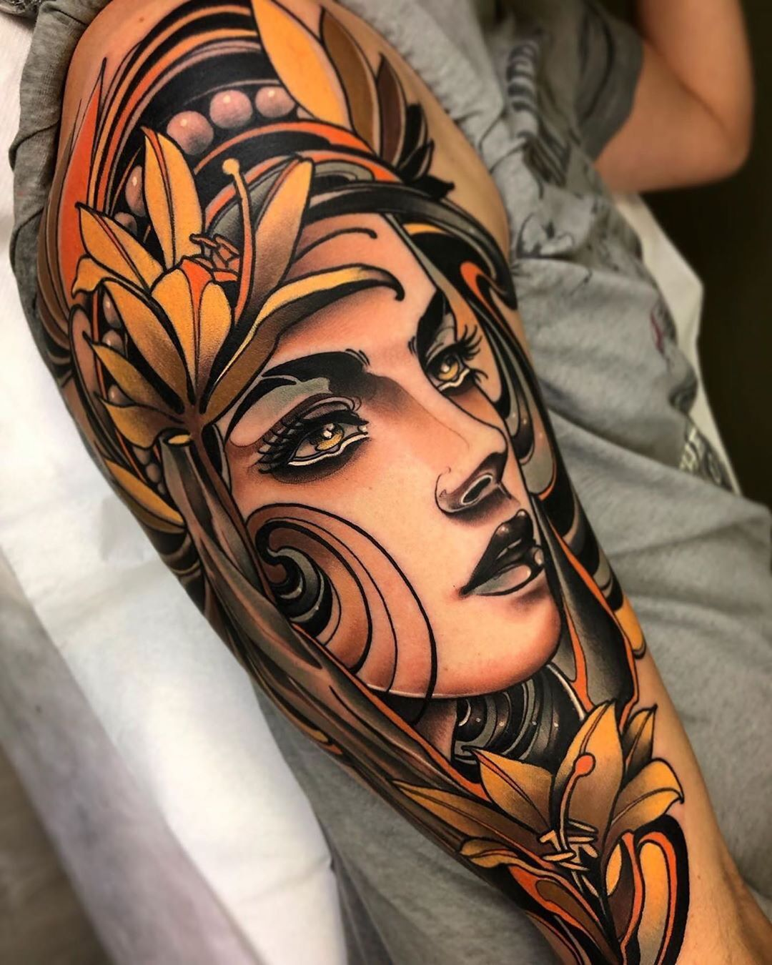 Tattoo Art Gallery On Instagram Tattoo By Fedealmanzor Neotraditional Neotraditional Tattoo Neotr Neo Traditional Tattoo Neo Tattoo Valkyrie Tattoo
