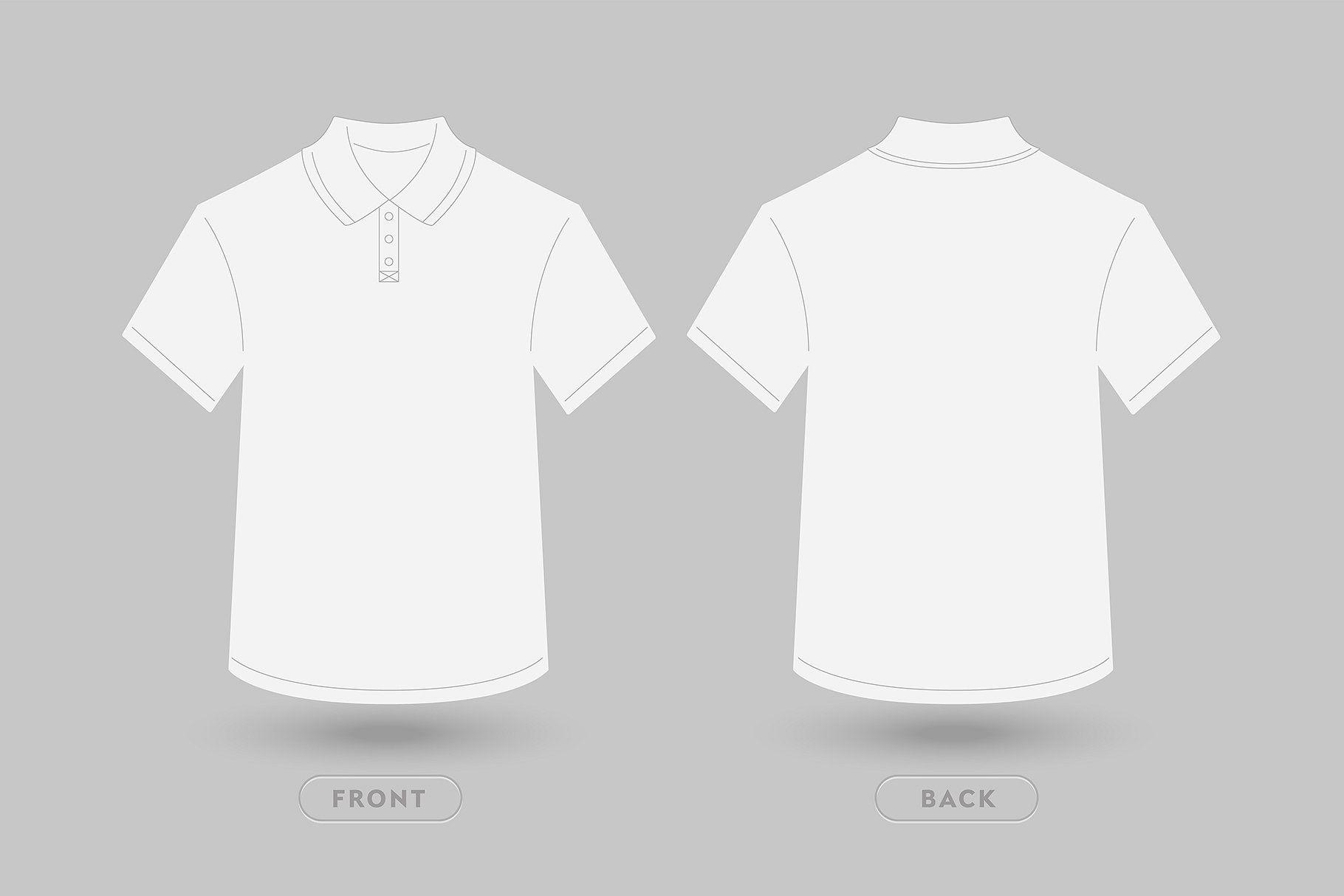 Polo T Shirt Vector Mockup Vector Illustration Front