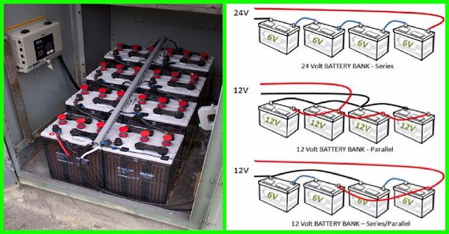 12v battery bank wiring (series, parallel & series/parallel) - electrical  engineering world