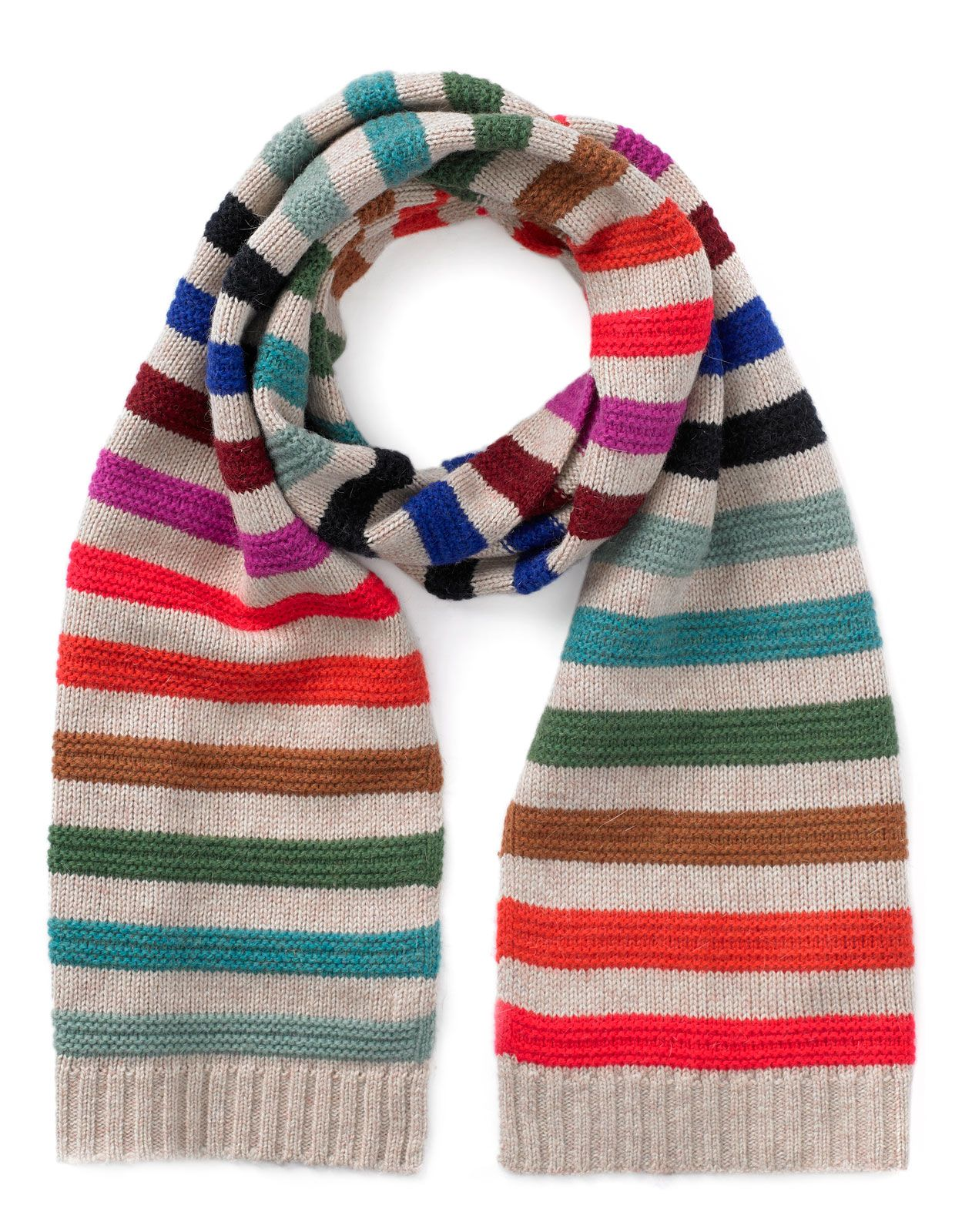 Luxe Pop Stripe Scarf | Multi | Accessorize | Knitted items