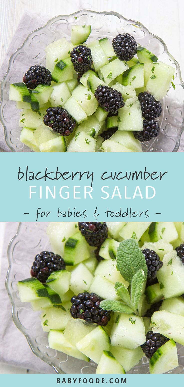 Blackberry + Cucumber + Melon Toddler Finger Salad images