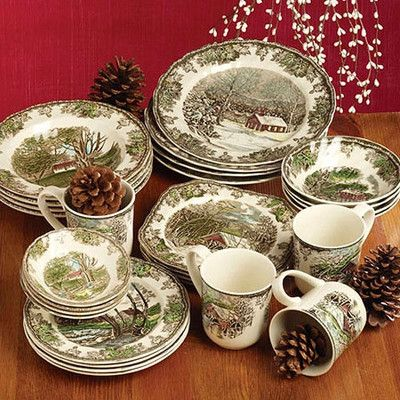 Dinnerware Sets & Johnson Brothers Friendly Village Dinnerware Set. This is winter ...